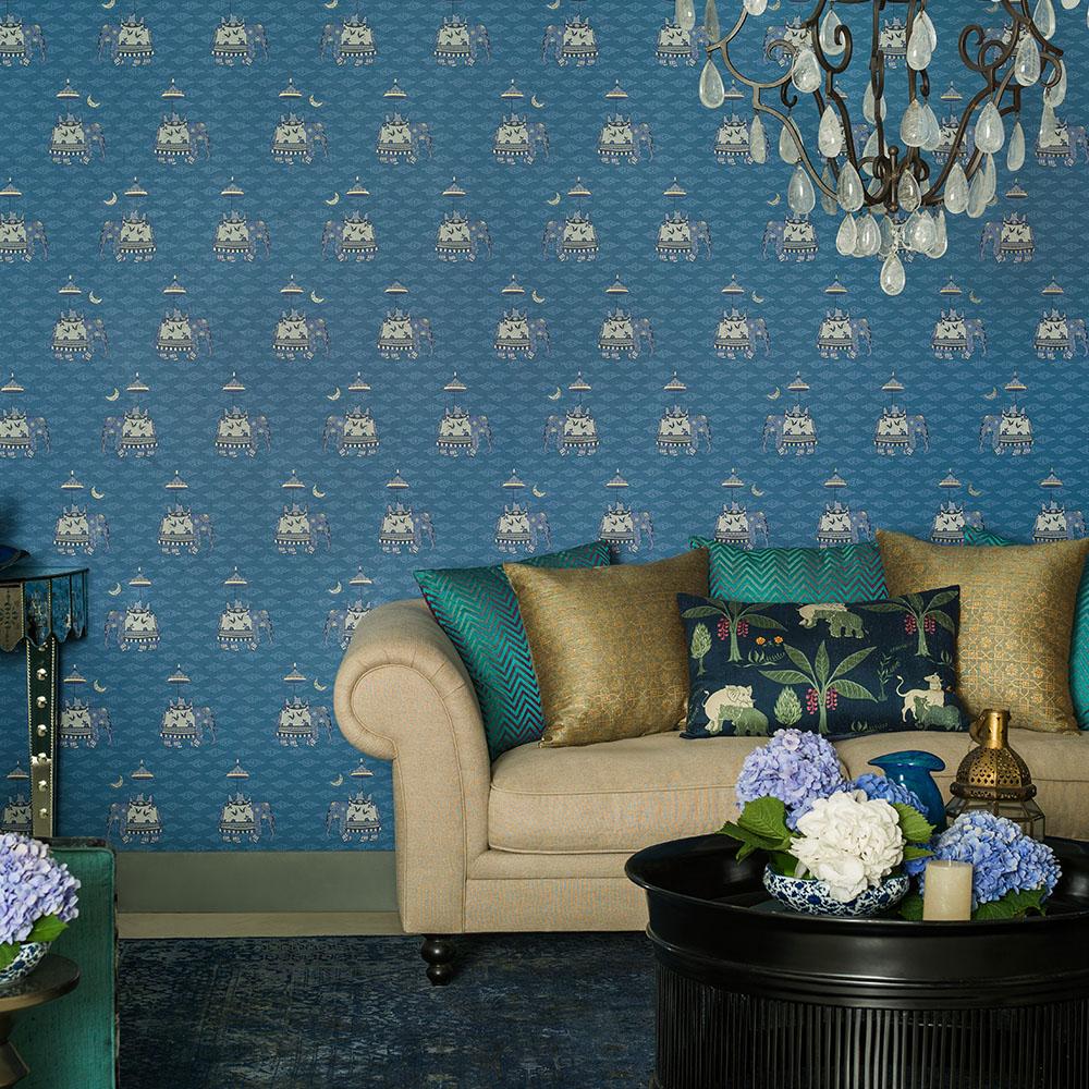 Perfekt Tapete Glitter Bild Von Wohndesign Idee