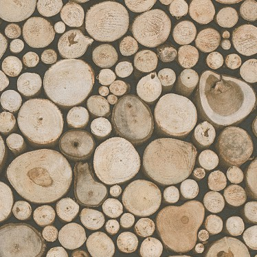 wood log wallpaper design