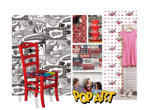 pop art wall design